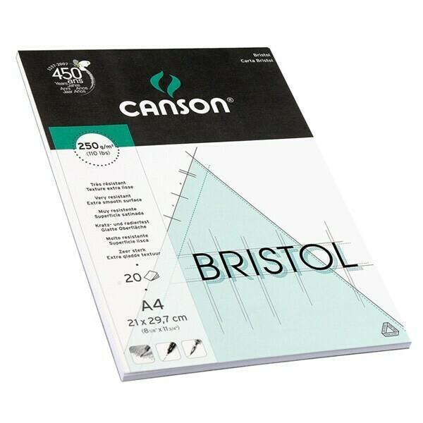 Склейка для графики Bristol, 250гр/м, 21х29.7см, 20л