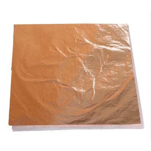 Поталь в листах 140х140мм 100 листов медь