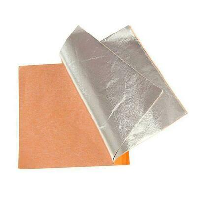Поталь в листах 140х140мм 100 листов серебро