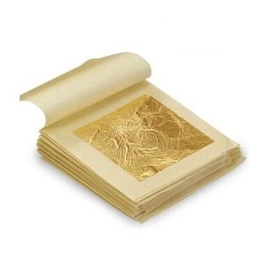 Сусальное золото 25л 8х8 см, 22 карата