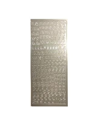 Наклейки Folia Alphabet Silver 24*10 см