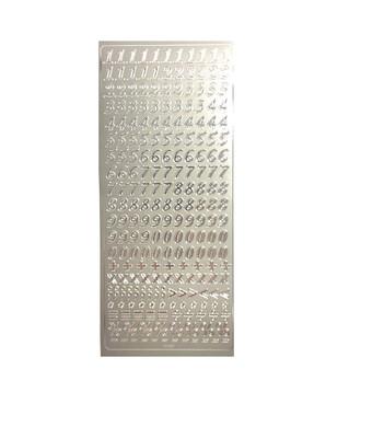 Наклейки Folia Numbers Silver 24*10 см