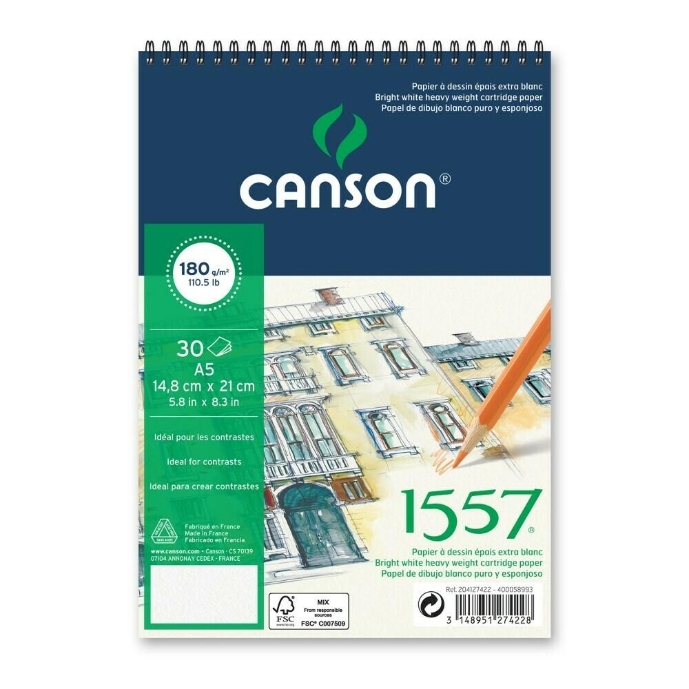 Альбом 1557 Canson на спирали, 180гр/м, малое зерно, A5, 30л