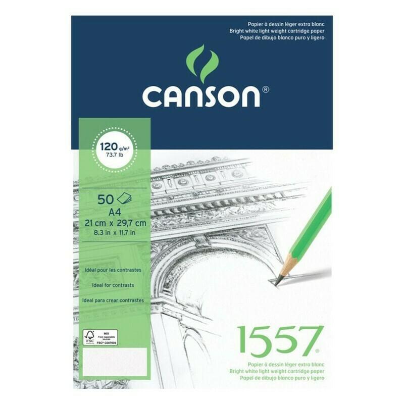 Альбом 1557 Canson склейка, 120гр/м, малое зерно, А4, 50л