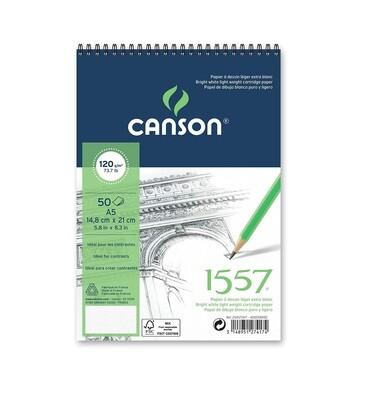 Альбом 1557 Canson со спиралью, 120гр/м, малое зерно, А5, 50л