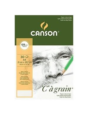 Альбом C'a Grain Canson склейка, 125гр/м, A4, 30л
