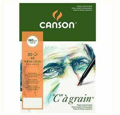 Альбом C'a Grain Canson склейка, 180гр/м, малое зерно, A5, 30л