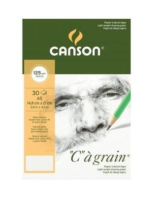 Альбом C'a Grain Canson склейка, 125гр/м, A5, 30л