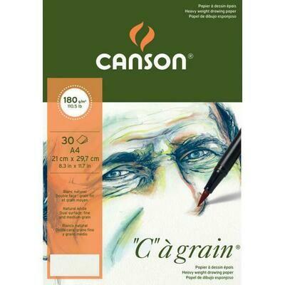 Альбом C'a Grain Canson склейка, 180гр/м, малое зерно, A4, 30л