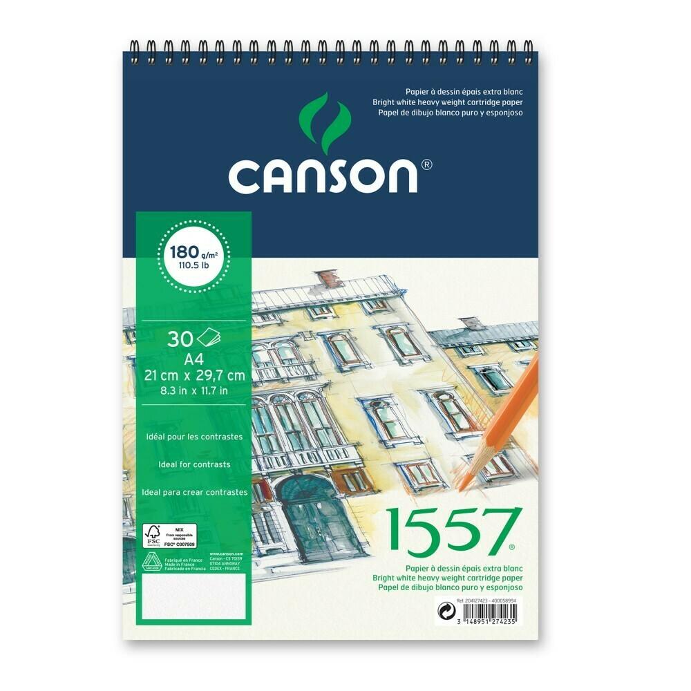 Альбом 1557 Canson на спирали, 180гр/м, малое зерно, A4, 30л