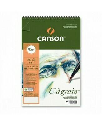 Альбом C'a Grain Canson на спирали, 180гр/м, малое зерно, A4, 30л