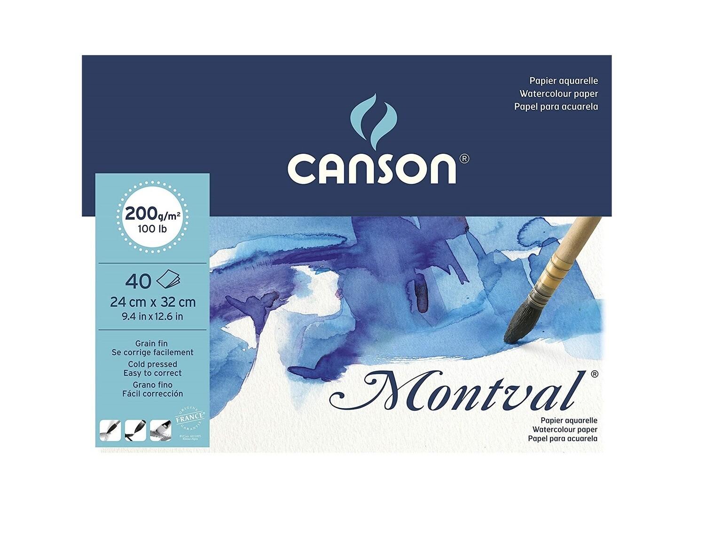Альбом для акварели Montval Canson, 200г/м2, 24х32см, Фин склейка 40 листов
