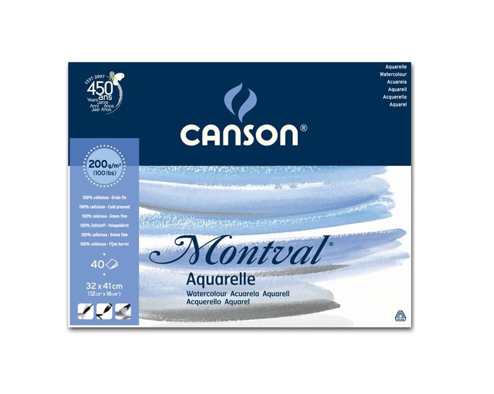 Альбом для акварели Montval Canson 200гр/м, Фин, 32х41см, 40л