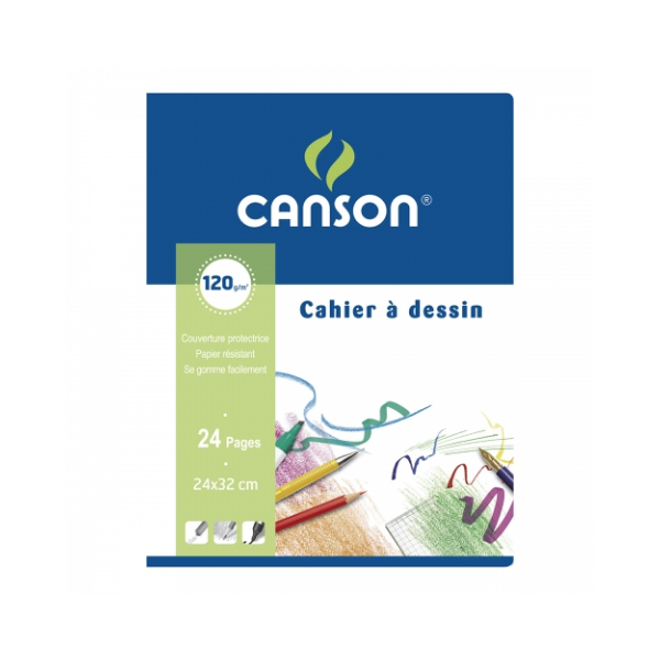 Альбом для набросков Canson 24x32cm 24 листа