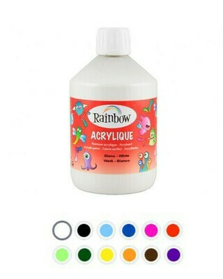 Акриловая краска для детей Rainbow 500 мл