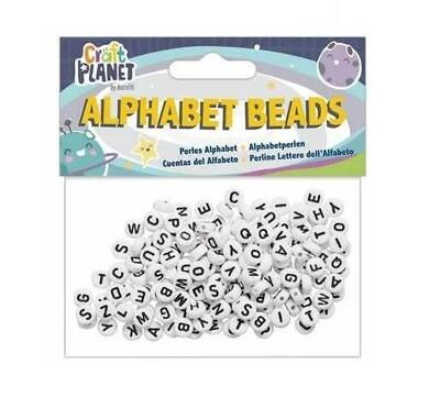 Бусины акриловые с алфавитом Craft Planet 160 шт