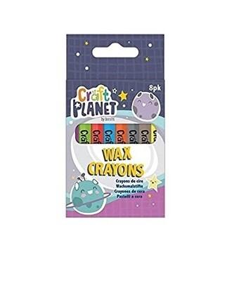 Восковые карандаши Craft Planet 8 шт