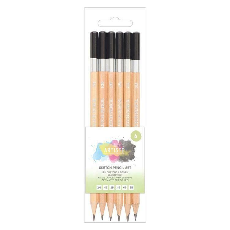 Набор графитовых карандашей для набросков Docrafts Artiste 6 шт