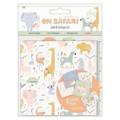 "Набор конвертов и открыток ""Safari"" Papermania 12 шт"