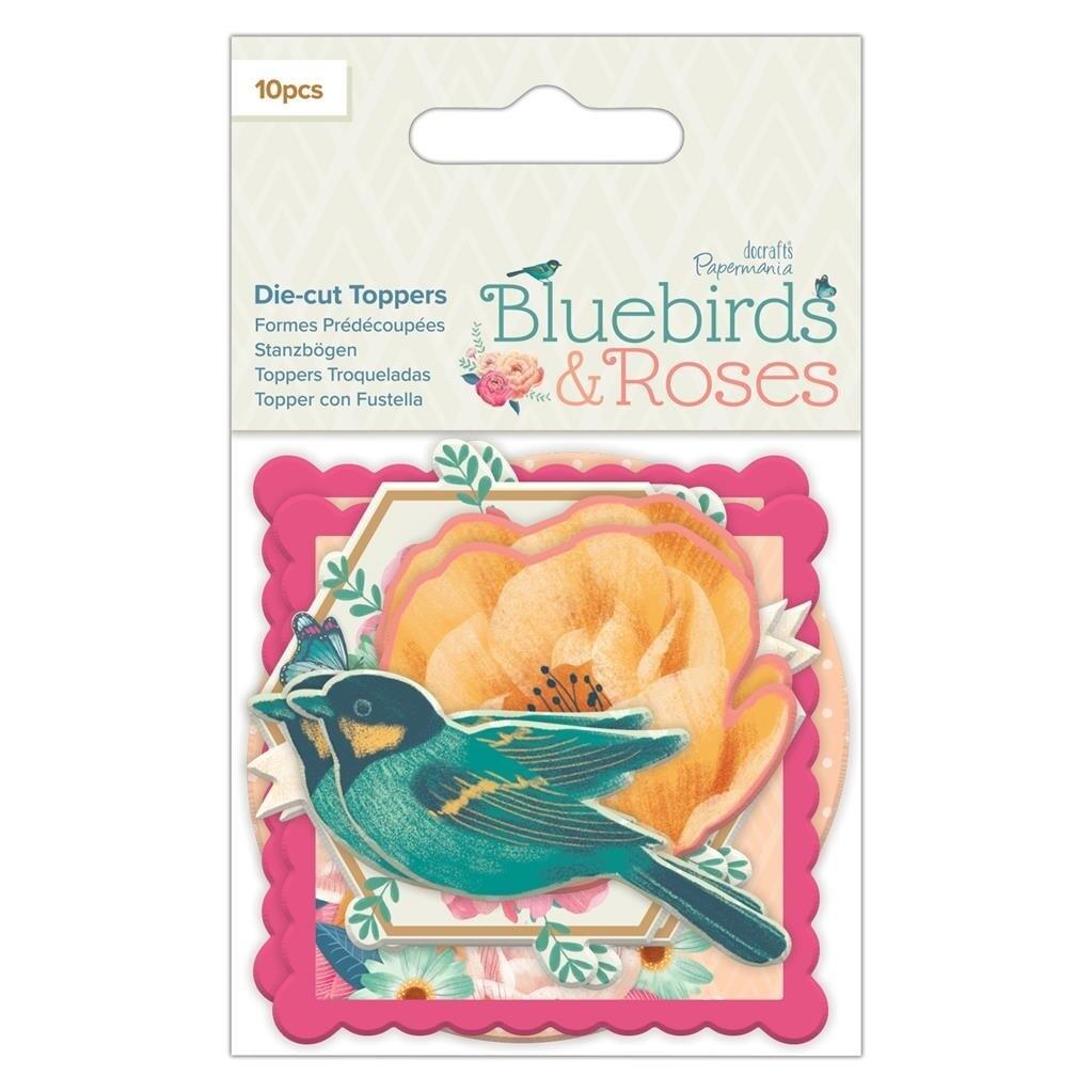 Набор высечек Papermania Bluebirds & Roses 70*70 мм, 10 шт