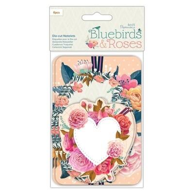 Набор высечек Bluebirds & Roses 150*100 мм, 6 шт
