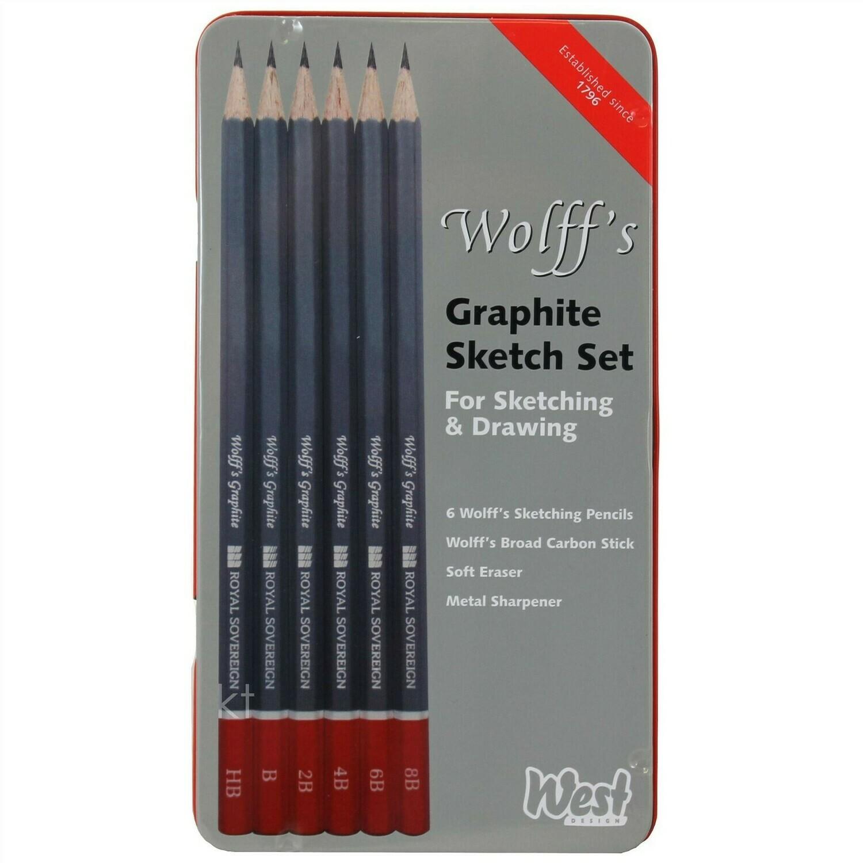 Набор графитовых карандашей Wolff's Graphite Sketch (9 шт)