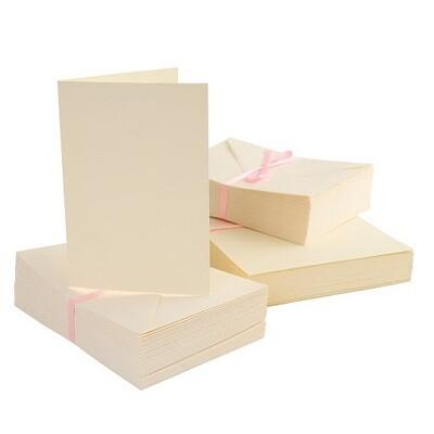 Конверты + заготовка для открыток А6 Docrafts 50 шт, крем