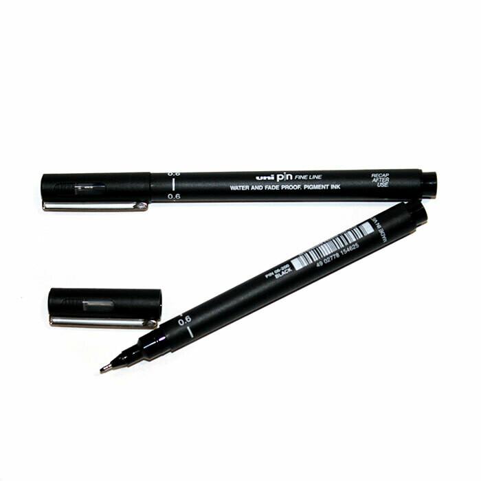 Линер Uni Pin Fine Line черный 0,2мм