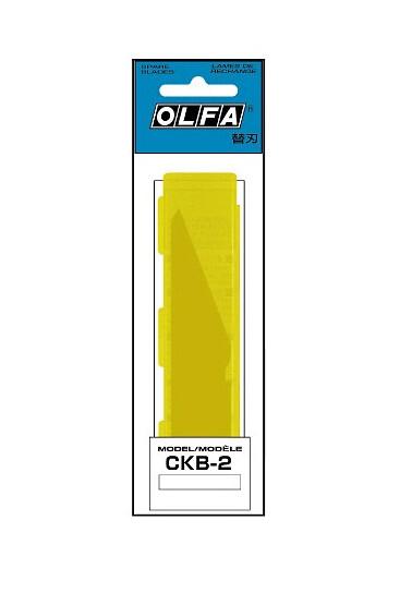 Лезвия OLFA для ножа CK-2, 2 шт 105 х 20 х1,2 мм из нержавеющей стали