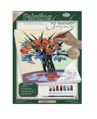 Раскраска по номерам Royal Langnickel на холсте «Букет полевых цветов», 22.9х30.5 см