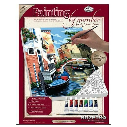 Раскраска по номерам Royal Langnickel на холсте «Венецианская площадь», 22.9х30.5 см