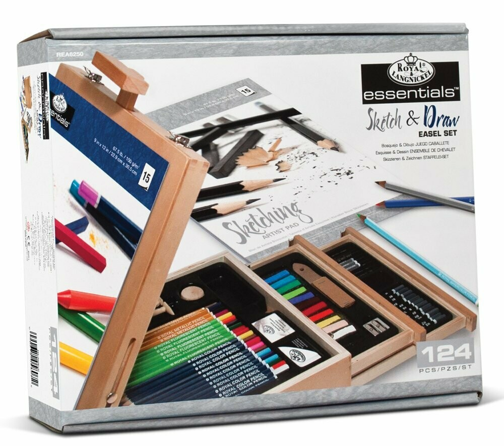 Set de pictura Royal and Langnickel Artist Easel (124 buc)