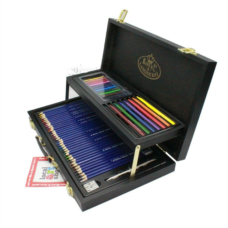 Set pentru desen Royal & Langnickel Black Series (59 buc, 2 nivele)