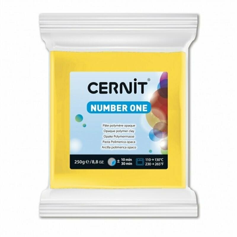 Полимерная глина 250 гр Cernit Number One желтая