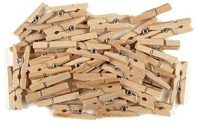 Set 50 Clestisori din lemn natur, 2.5 x 0.3 cm