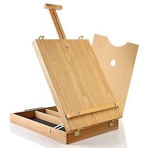 Ящик-мольберт с ручкой, поддоном и плечевым ремнем