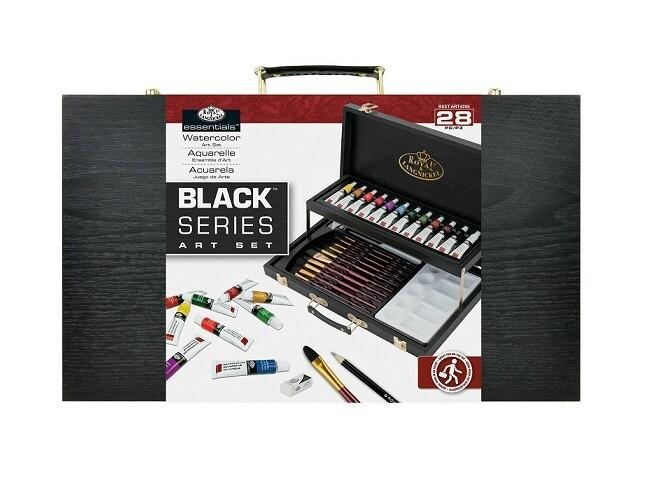 Set de acuarela Royal & Langnickel Black Series (28 buc, 2 nivele)
