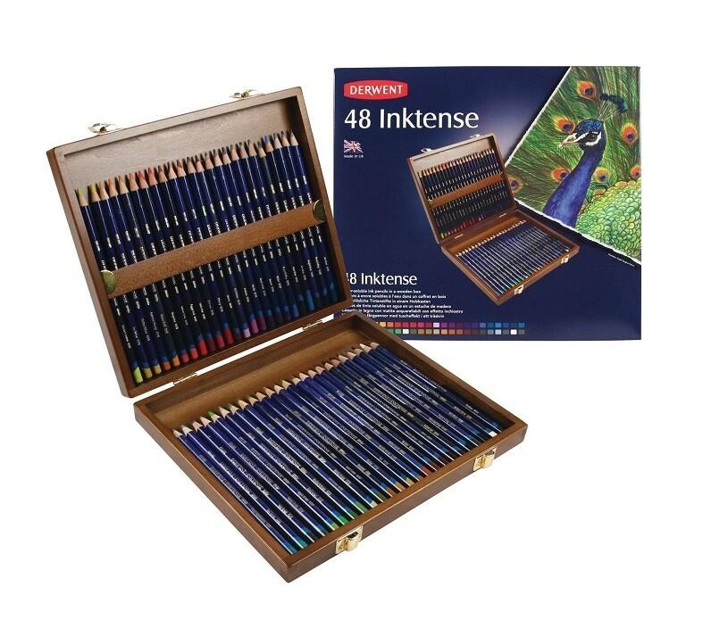 Набор акварельно-чернильных карандашей Derwent Inktense, 48 цв