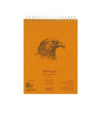 Альбом для эскизов на спирали Smiltainis Authentic Kraft А4 90 г/м2 60 листов