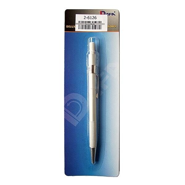 Нож макетный ручка, серебристый Dafa