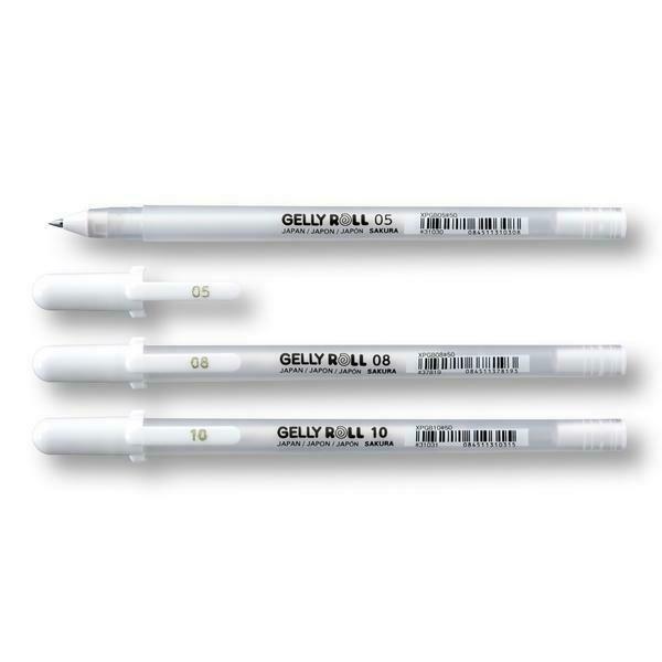 Белая гелевая ручка Gelly Roll Sakura 0.5