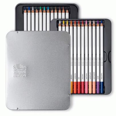 Набор акварельных карандашей 24 цв. Studio Collection Winsor&Newton, метал. коробка
