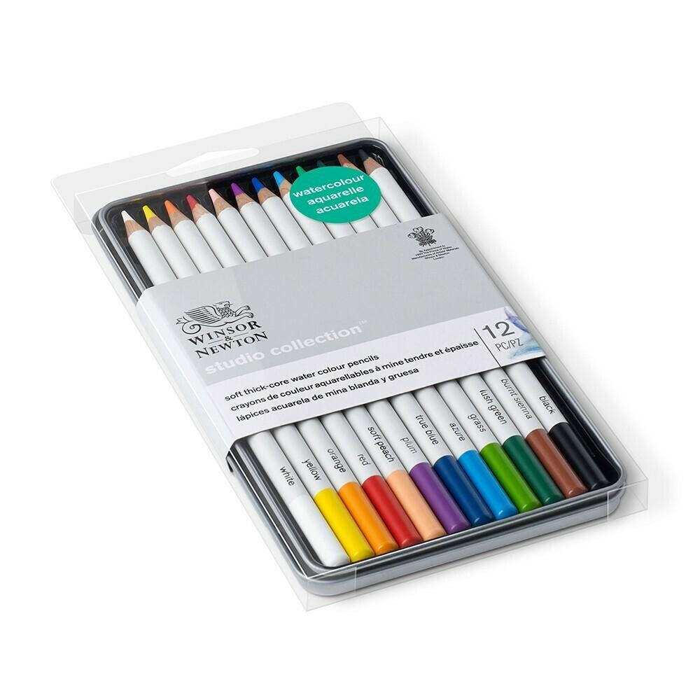 Набор акварельных карандашей 12 цв. Studio Collection Winsor&Newton, метал. коробка