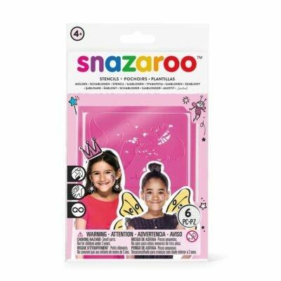 Набор трафаретов самоклеющихся многоразовых для грима Snazaroo, 6 шт