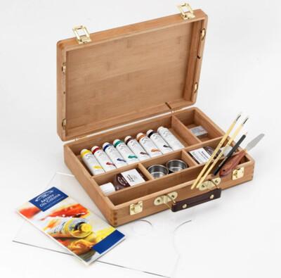 Набор масляных красок Winsor & Newton Artists Oil Bamboo Box