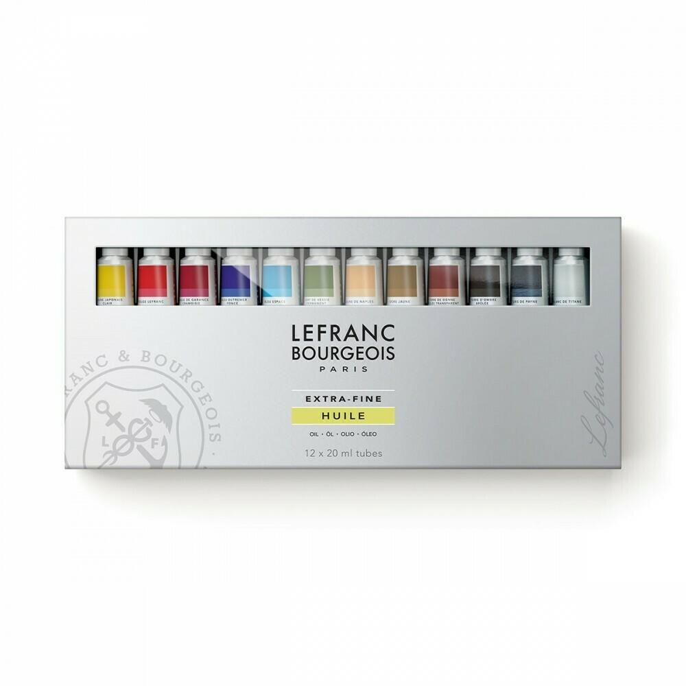 Набор масляных красок Lefranc Bourgeois Extra-Fine Oil Paint 12x20мл