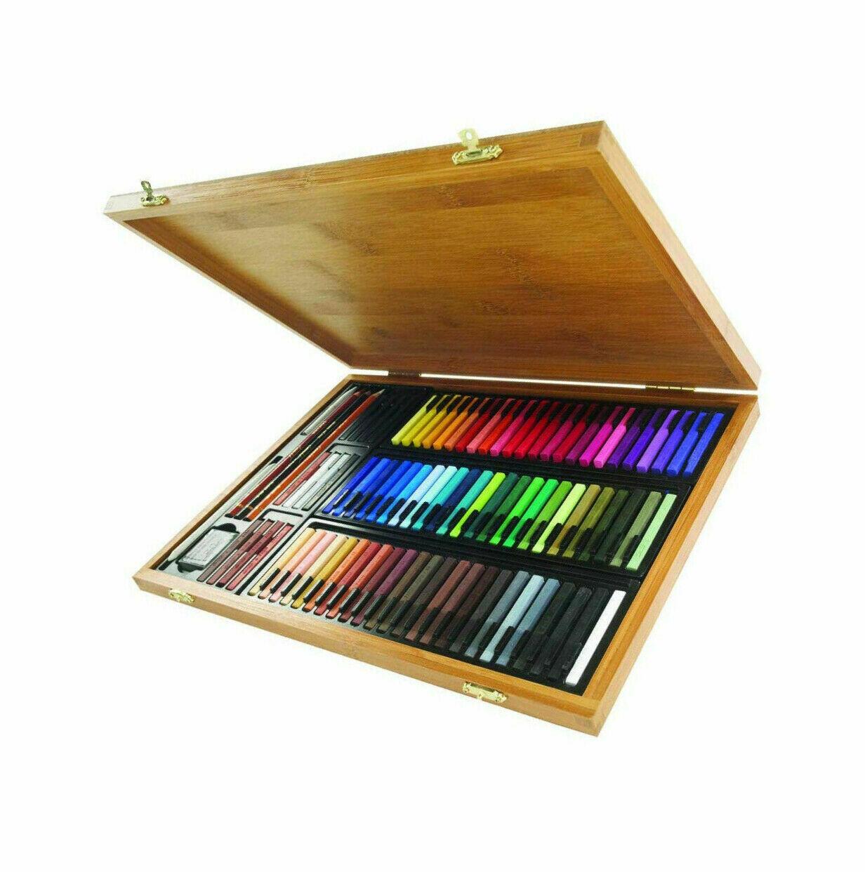 Набор пастельных мелков Conte a Paris в бамбуковой коробке 70 цв + аксессуары