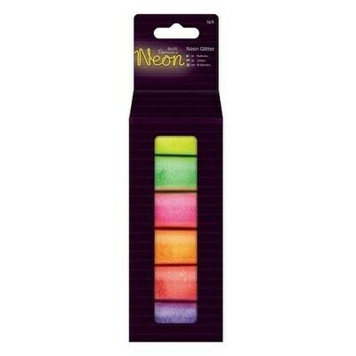 Глиттер (блестки) разноцветные неоновые 6 шт * 8 гр