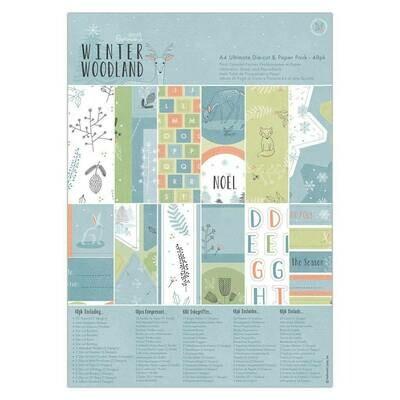 Набор бумаги Winter Woodland A4 с вырубками