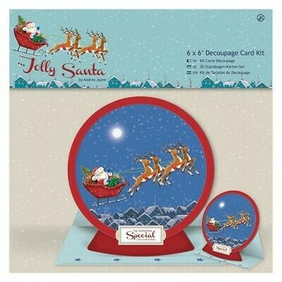 Набор для создания открытки Jolly Santa 16.5*16.5 см